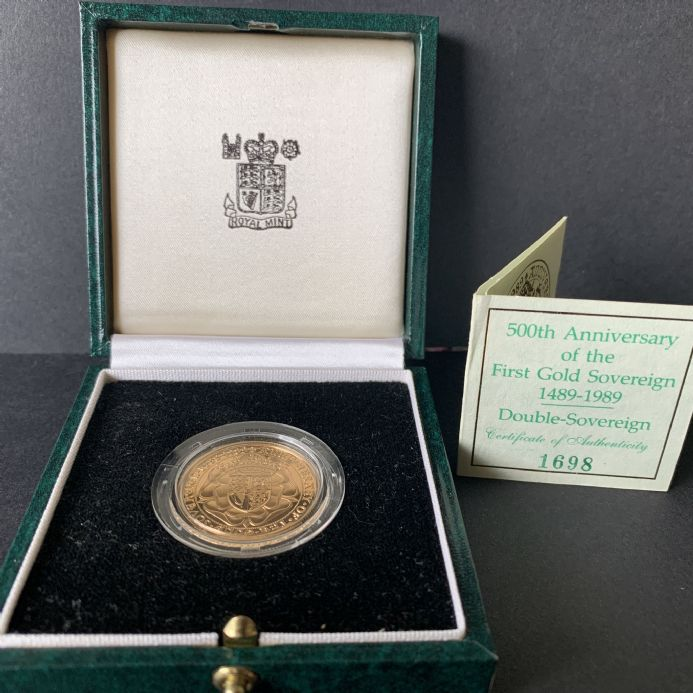 1989 £2 Gold Double Sovereign